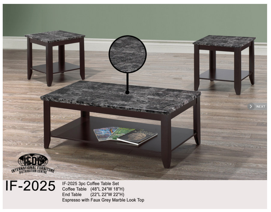 If 2025 3pcs Coffee Table Set With Faux Grey Marble Look Top International Furniture Shop Comfort Night